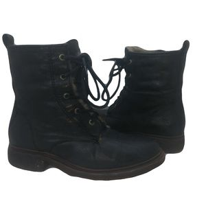 Frye Valerie LaceUp Shearling Ankle Boots